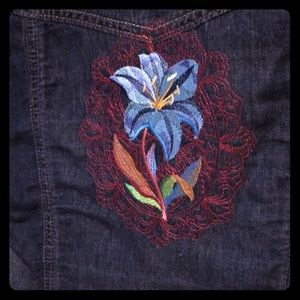 Jean jacket with Maker embroidery